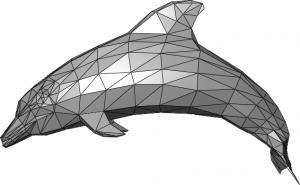 Exempel på polygonmodell.