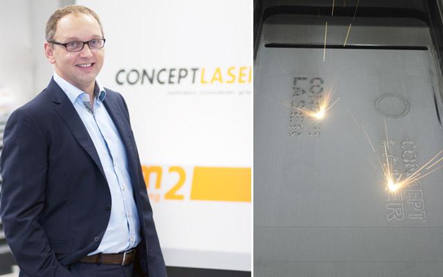 Concept Lasers administrerende direktør, Frank Herzog.